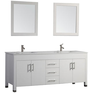 "MTD Vanities Monaco 60"" Double Sink Bathroom Vanity Set, White"