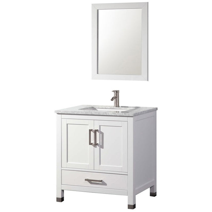 MTD Vanities Ricca 30'' Single Sink Bathroom Vanity Set, White