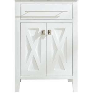Wimbledon - 24 - White Vanity Cabinet by Laviva