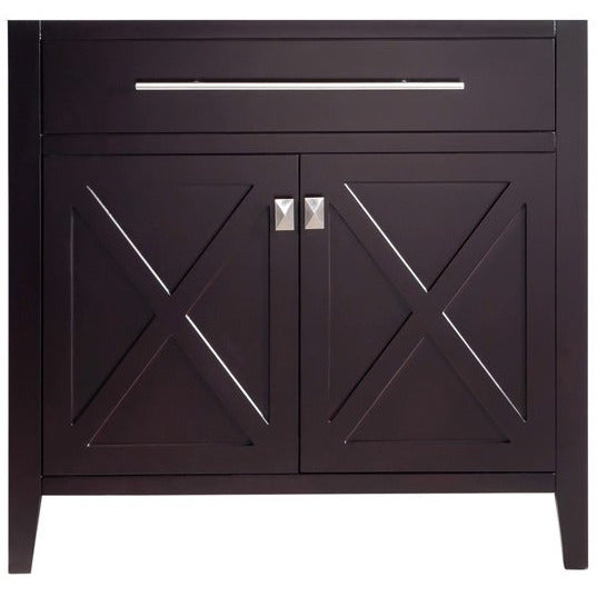 Wimbledon - 36 - Brown Vanity Cabinet by Laviva