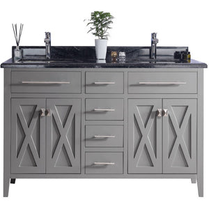 Wimbledon - 60 - Grey Vanity and Black Wood Counter by Laviva