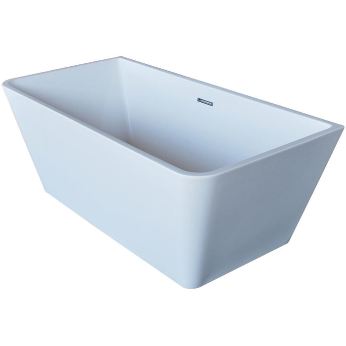 Glossy White Acrylic Freestanding Bathtub - Anzzi Majanel 5.6 ft