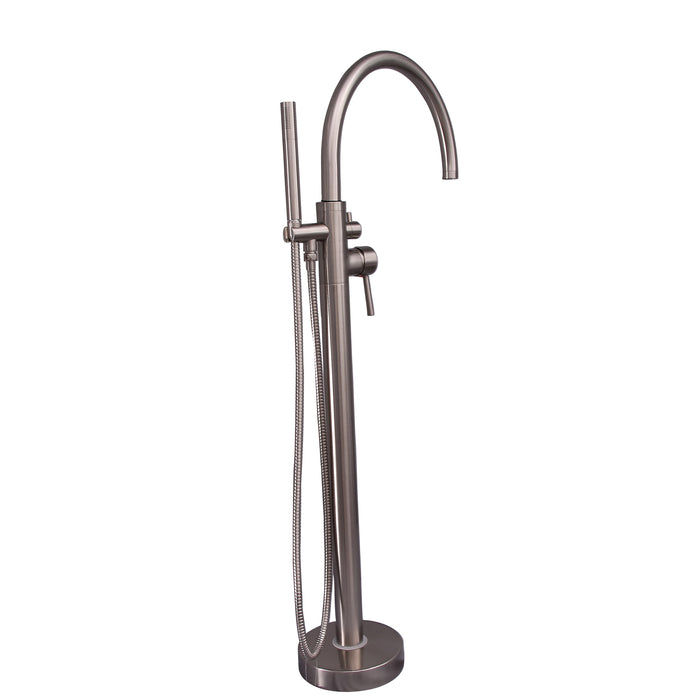 Barclay - Branson Freestanding Tub Filler with Hand Shower - 45.5