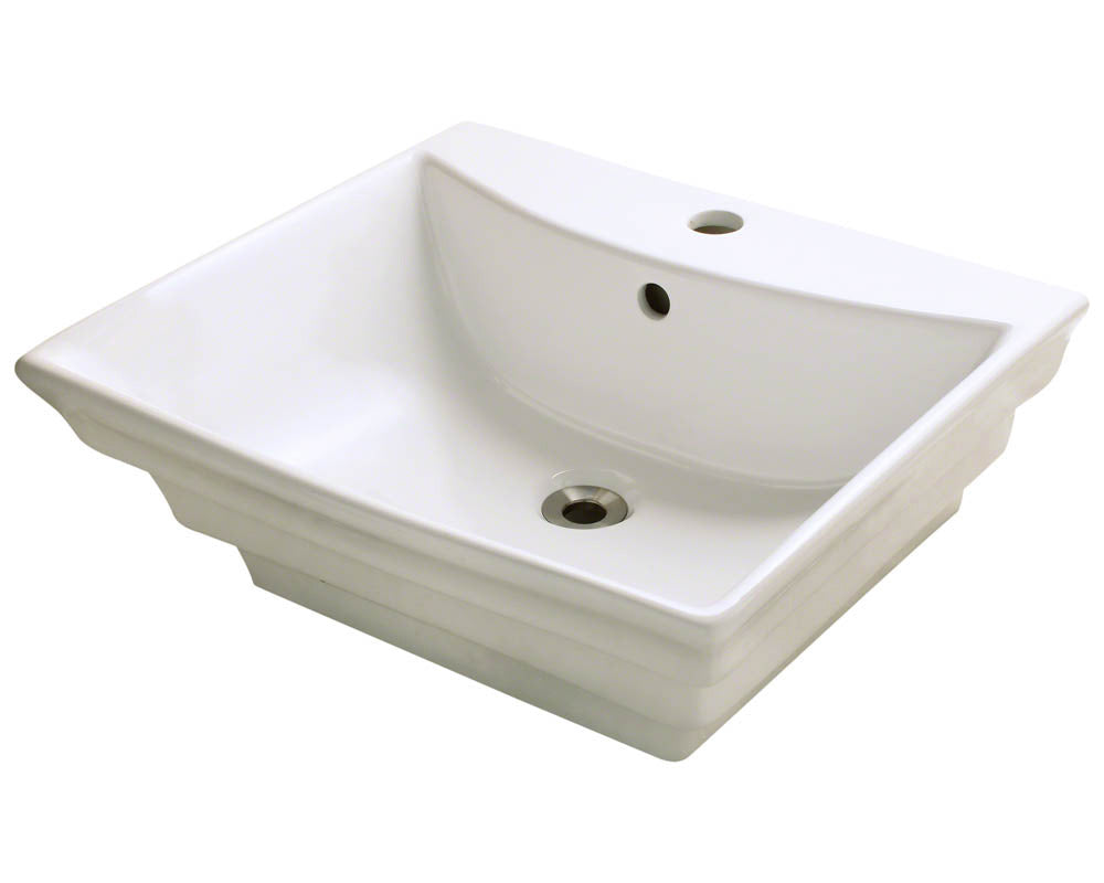 P061VB Porcelain Vessel Sink by Polaris