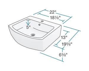 P003VB Vessel Porcelain Sink by Polaris