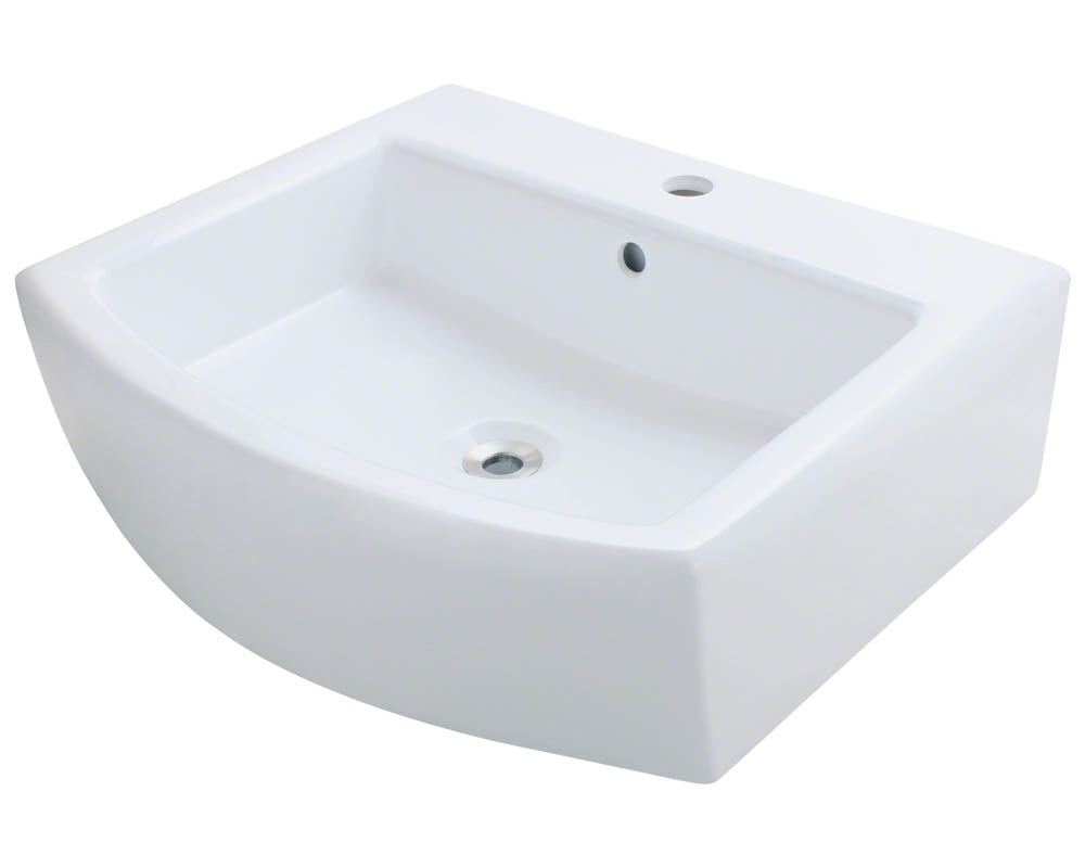 P003VW Porcelain Vessel Sink by Polaris