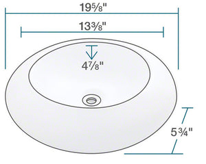P09VB Porcelain Sink by Polaris