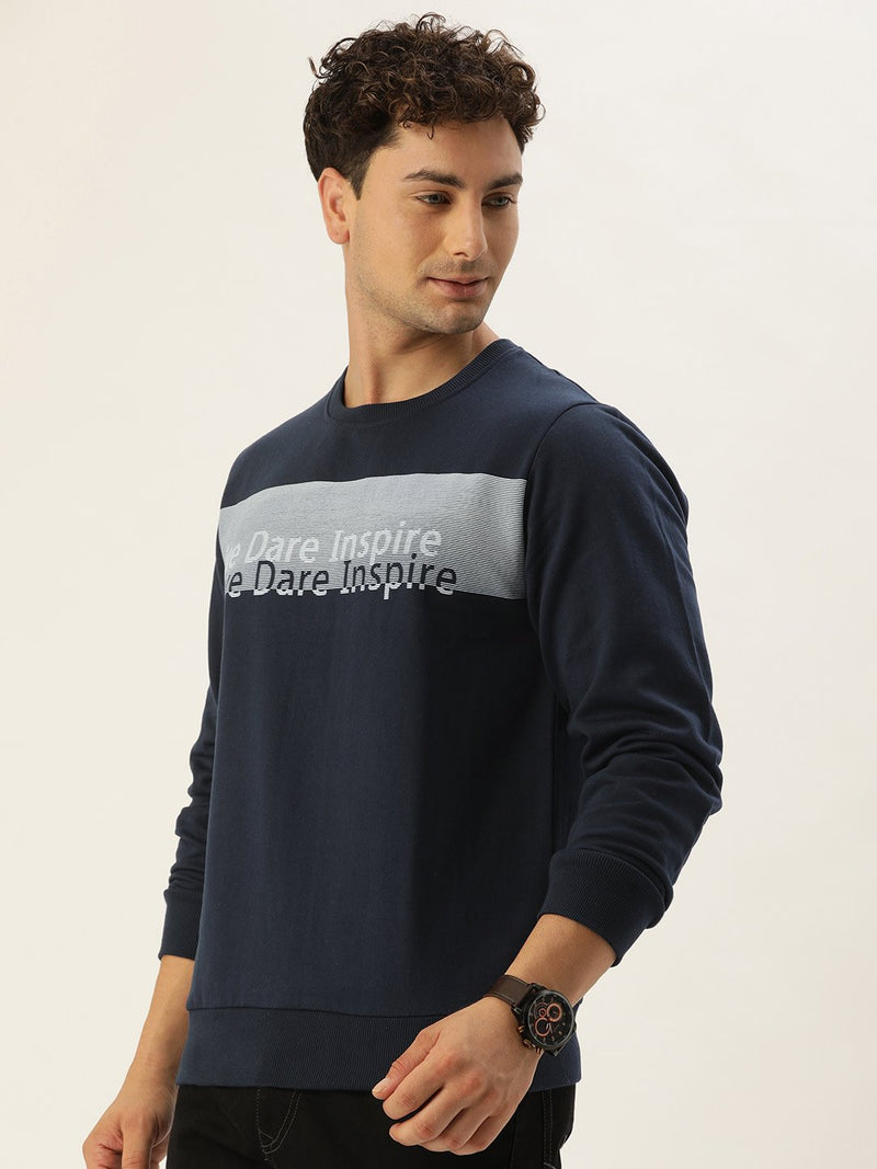 YWC Chest Printed Sweatshirt
