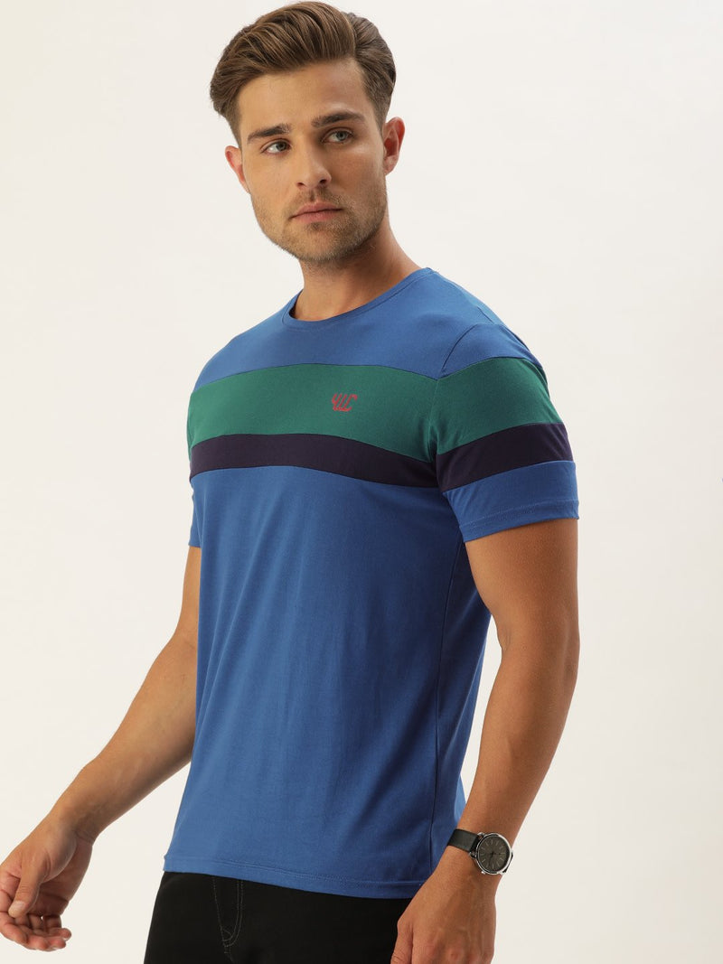 YWC Blue Striped T-Shirt