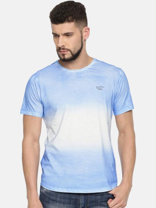 YWC Solid Regular Fit T-Shirt
