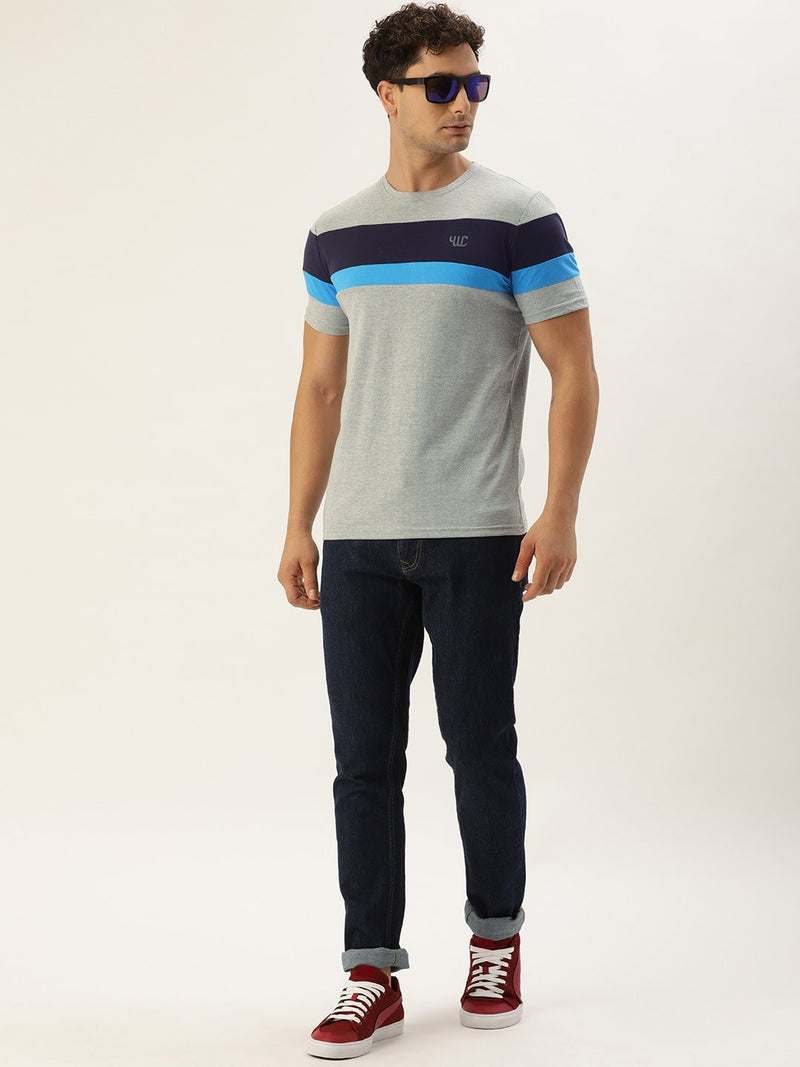 YWC Grey Striped T-Shirt