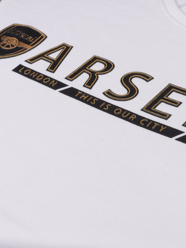 Arsenal Black & Gold HD Print T-Shirt