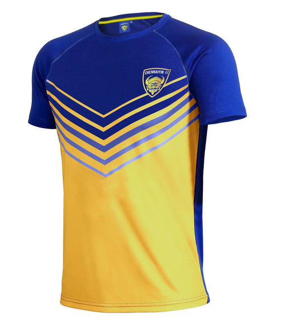 Chennaiyin FC Striped Dry Fit T-Shirt