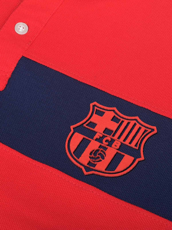 FC Barcelona Color Block Polo with 3D Print
