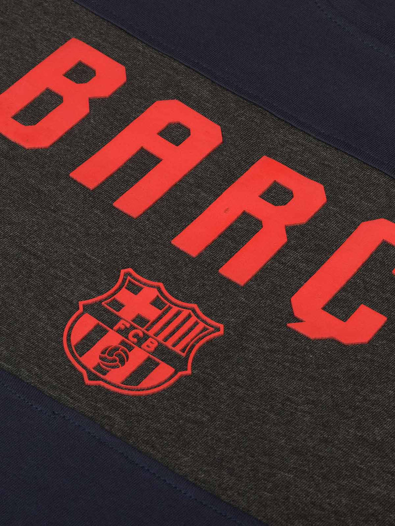 FC Barcelona Color Block T-shirt with 3D Print