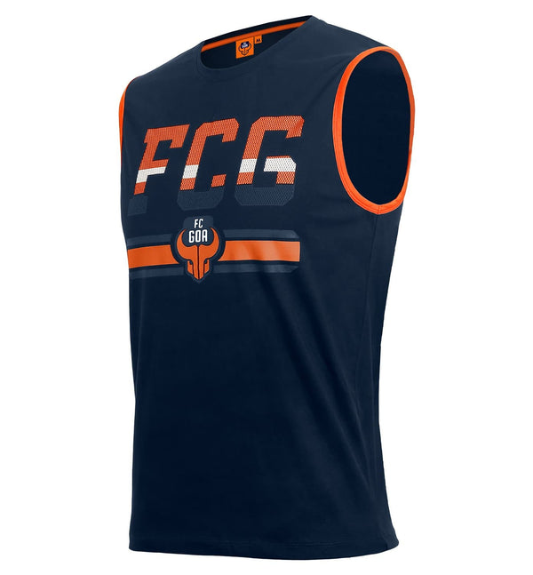 "FC Goa ""FCG"" Logo Official Sleeveless T-Shirt"
