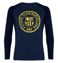 FCB Blue Printed Round Neck T-Shirt