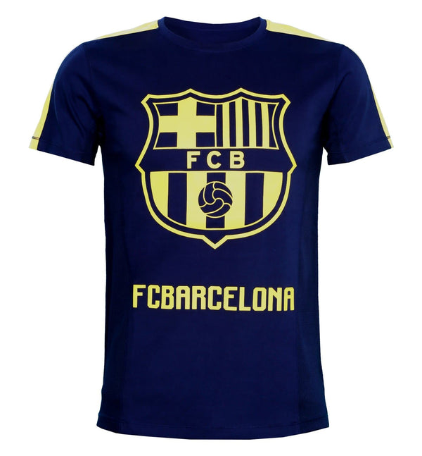 FCB Navy Printed Round Neck T-Shirt