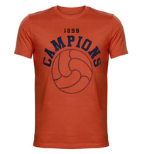 FCB Orange Printed Round Neck T-Shirt