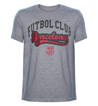 FCB Grey Melange Printed Round Neck T-Shirt