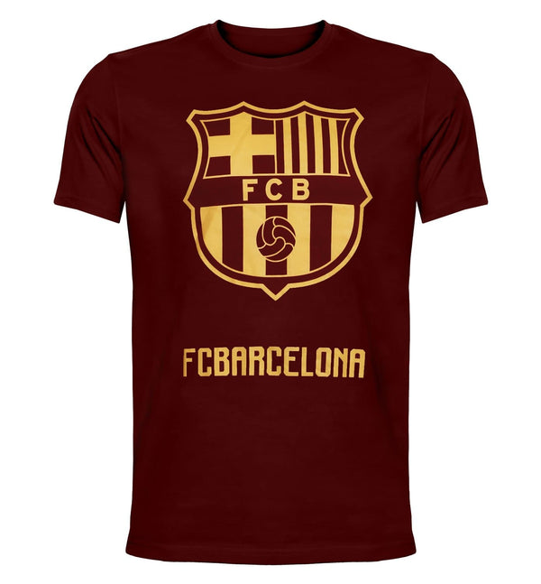 FCB Maroon Printed Round Neck T-Shirt