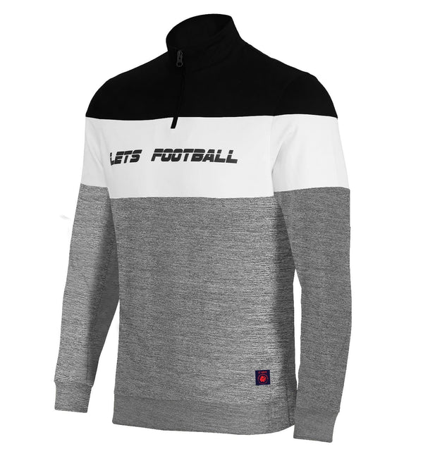ISL Colorblocked Sweatshirt With Half Zipper