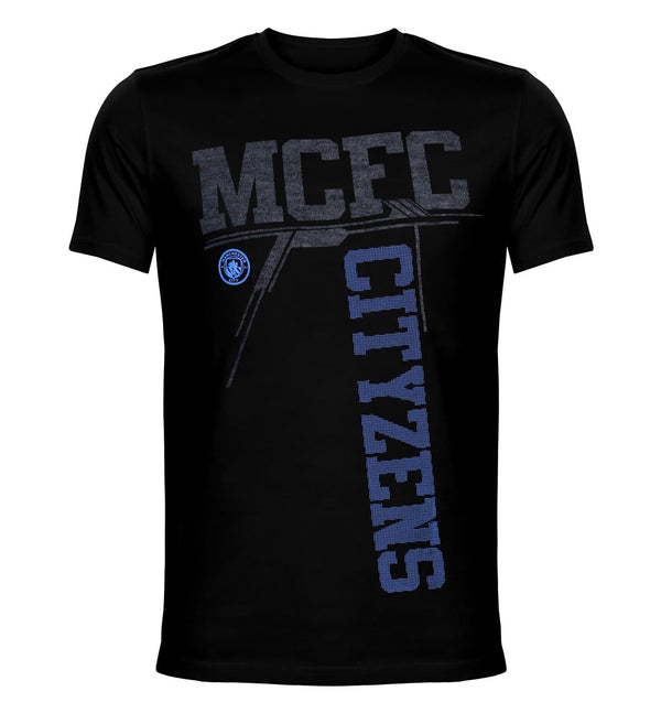 MCFC Black Printed Round Neck T-Shirt