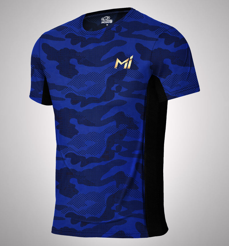 Mumbai Indians Official Camo Print T-Shirt