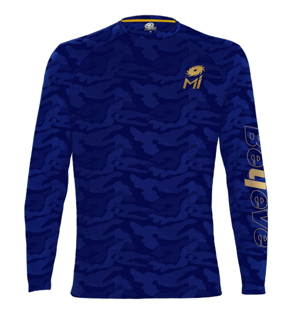 Mumbai Indians #Believe Camo Print Full Sleeve T-Shirt