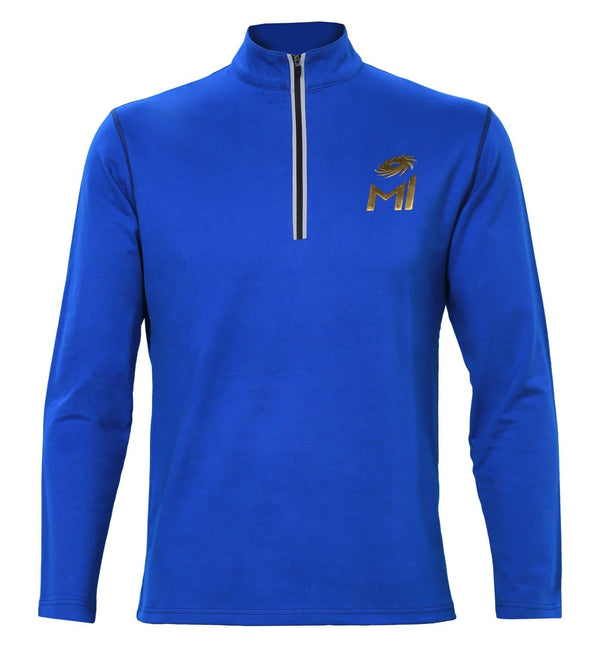 Mumbai Indians Half Zip Pull Over High Neck Sweatshirt