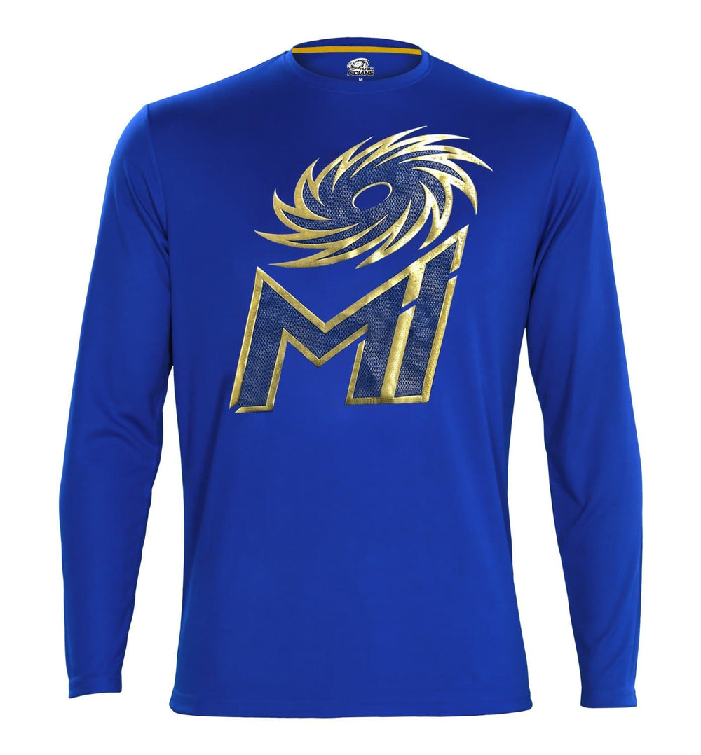 Mumbai Indians Royal Blue Printed Full Sleeve T-Shirt