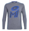 Mumbai Indians Grey Printed Full Sleeve T-Shirt