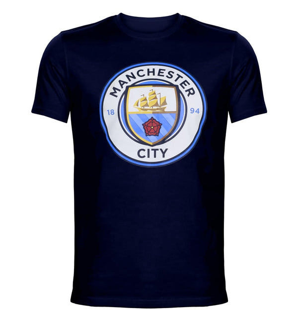 MCFC Navy Printed Round Neck T-Shirt