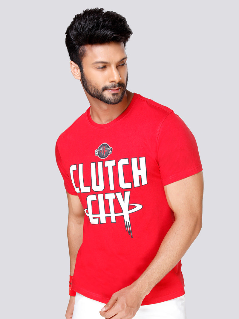 "Houston Rockets ""Clutch City"" Graphic T-Shirt"