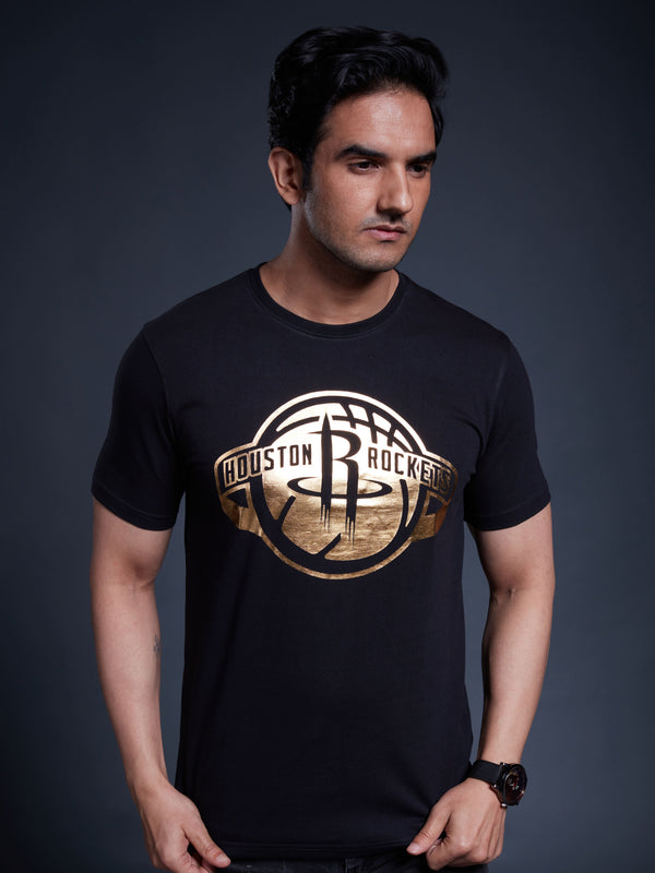 Houston Rockets Gold Foil T-shirt