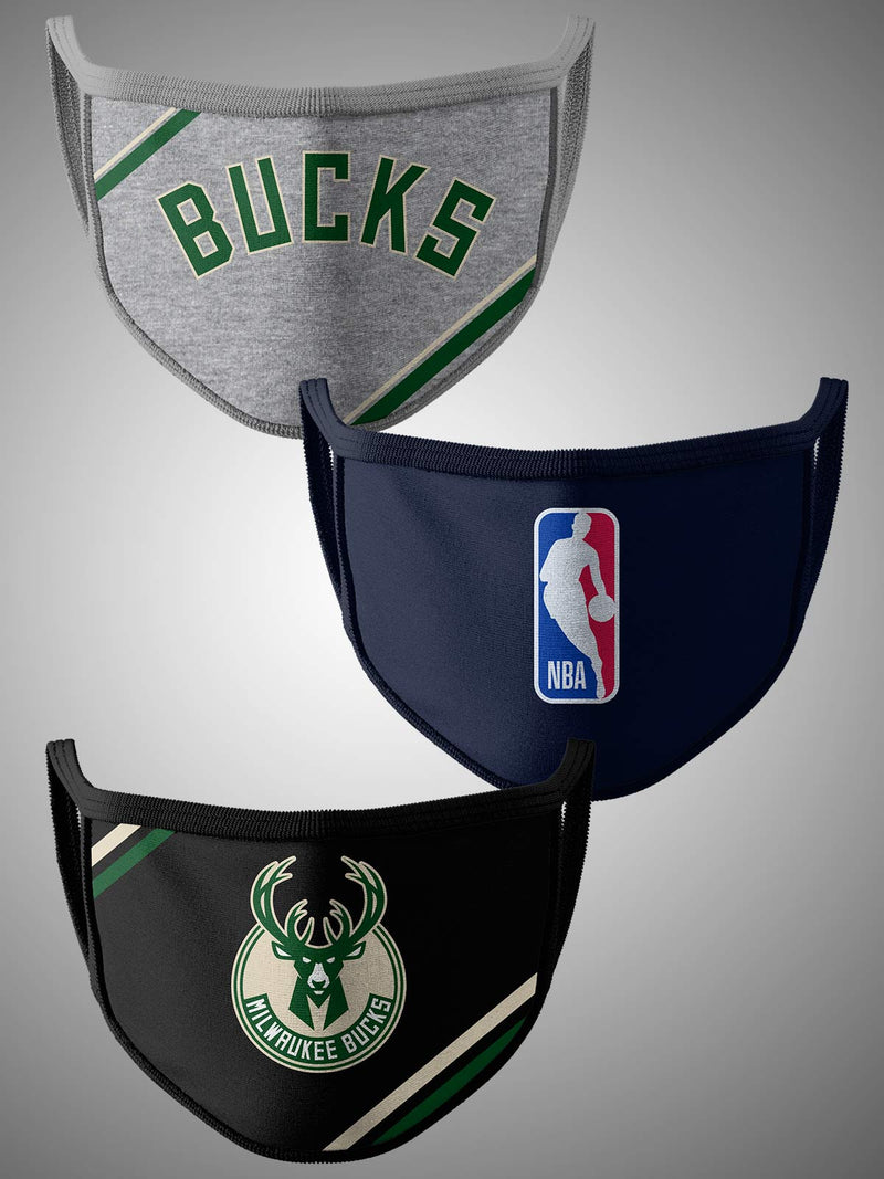 Milwaukee Bucks Pack of 3 Face Covering
