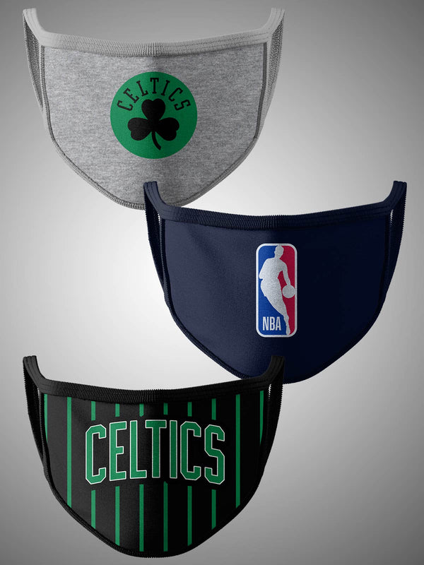 Boston Celtics Pack of 3 Face Covering