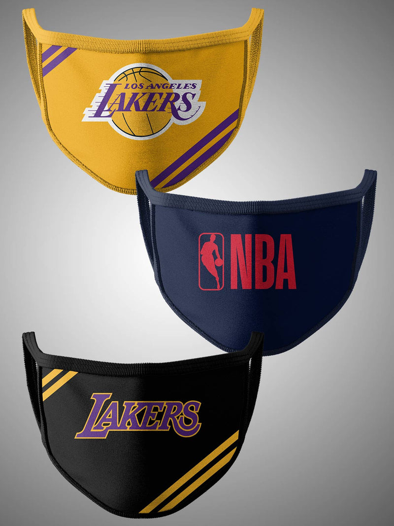 Los Angeles Lakers Pack of 3 Face Covering