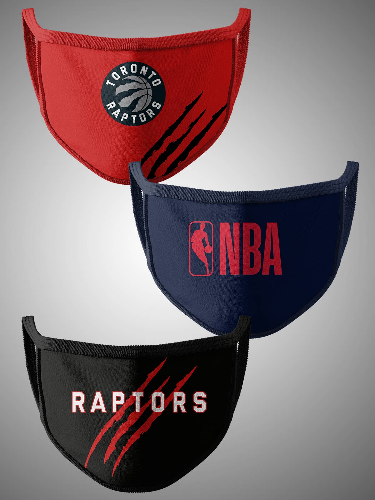 Toronto Raptors Pack of 3 Face Covering