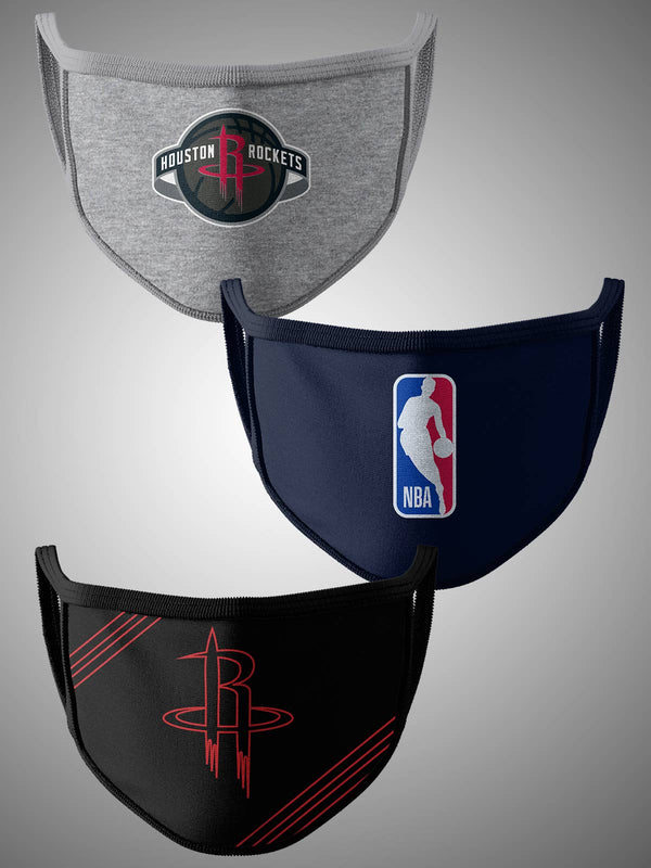 Houston Rockets Pack of 3 Face Covering