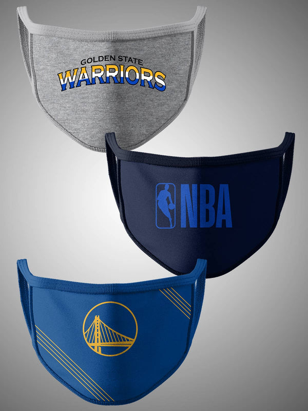 Golden State Warriors Pack of 3 Face Covering