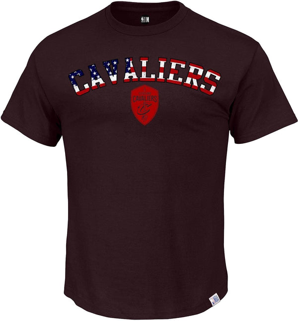 NBA Cleveland Cavaliers Maroon Solid Round Neck T-Shirt
