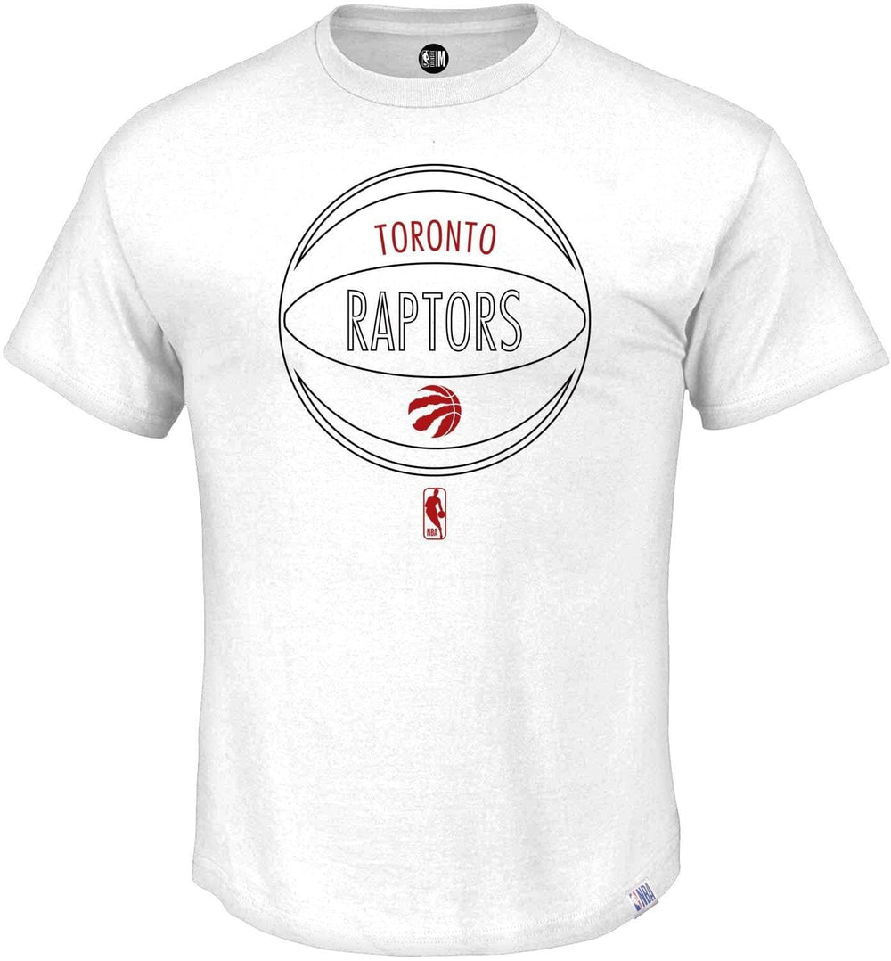 NBA Toronto Raptors White Printed Round Neck T-Shirt