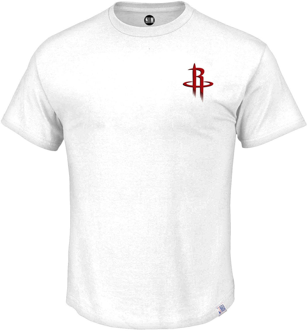 NBA Houston Rockets White Printed Round Neck T-Shirt