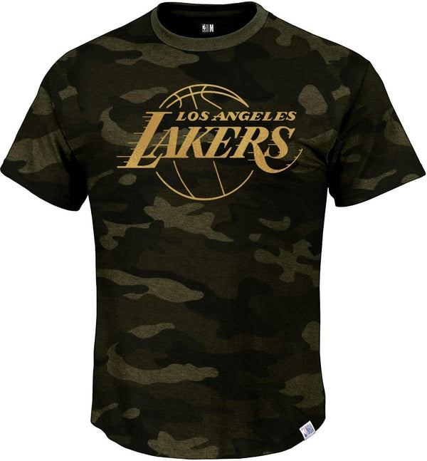Los Angeles Lakers Camo T-Shirt With Foil Chest Print