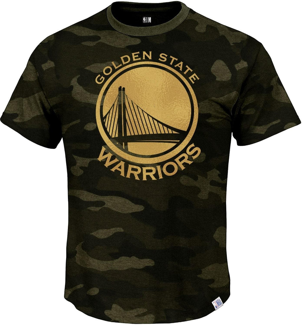 Golden State Warriors Camo T-Shirt With Foil Chest Print