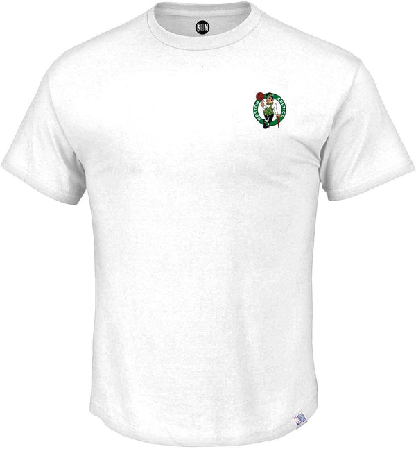 NBA Boston Celtics White Printed Round Neck T-Shirt
