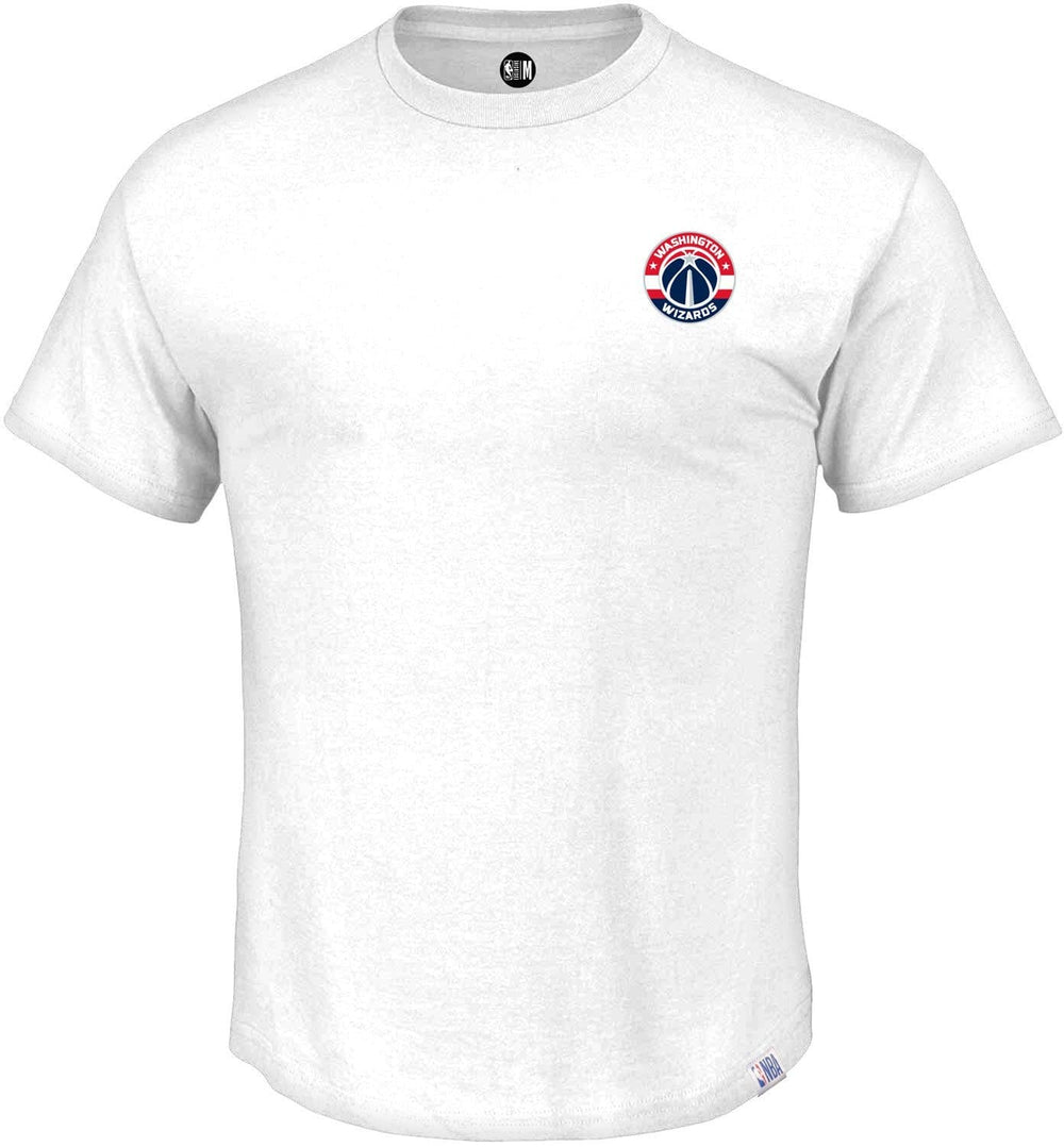 NBA Washington Wizards White Printed Round Neck T-Shirt