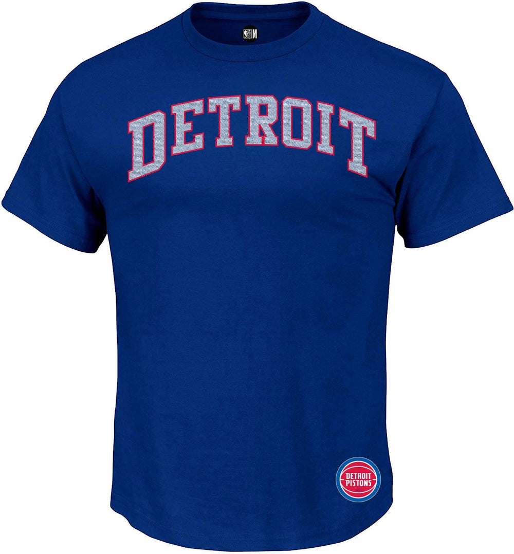 NBA Detroit Pistons Solid Round Neck T-Shirt