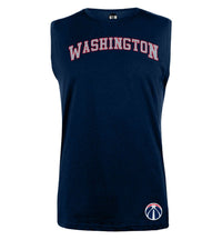 NBA Washington Wizards Navy Printed Sleeveless T-Shirt
